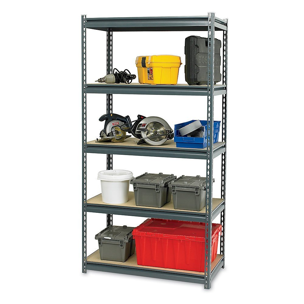 Use Edsal Shelving At Your Garage To Save Your Tools: Chic Ultra Rack Heavy Duty Boltless Shelving By Edsal Shelving For Garage Furniture Ideas