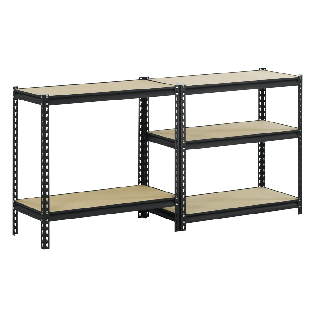 Use Edsal Shelving At Your Garage To Save Your Tools: Chic UR185L BLK Black Steel Heavy Duty 5 Shelf By Edsal Shelving For Home Furniture Ideas