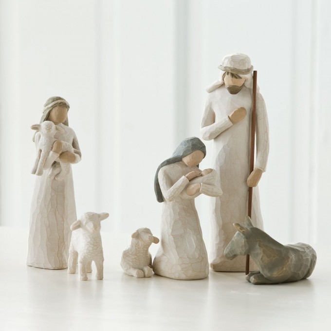 Chic Willow Tree Nativity Sets For Christmas Decoration Ideas