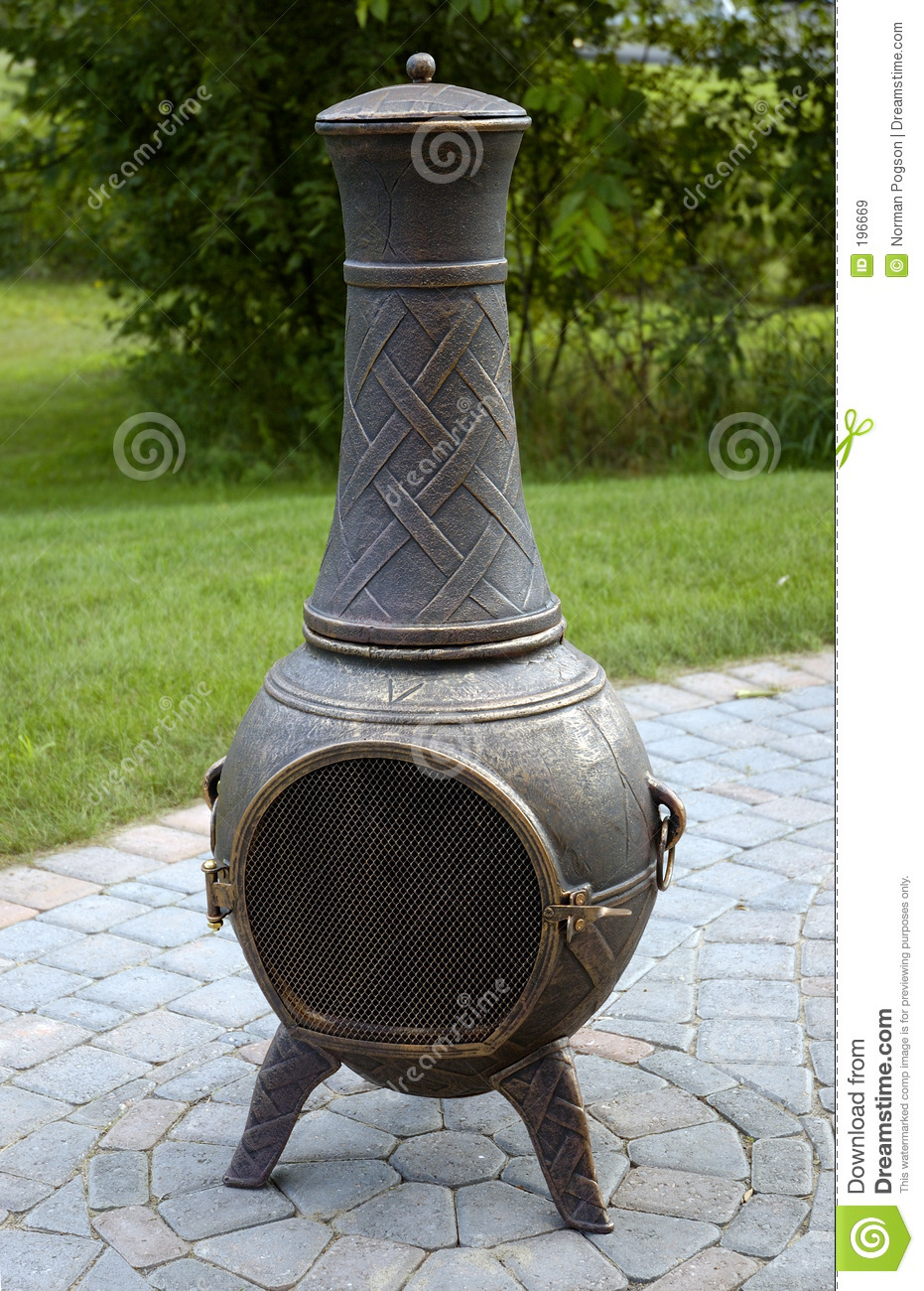 Chiminea Fire Pot In Unique Design For Patio Furniture Ideas