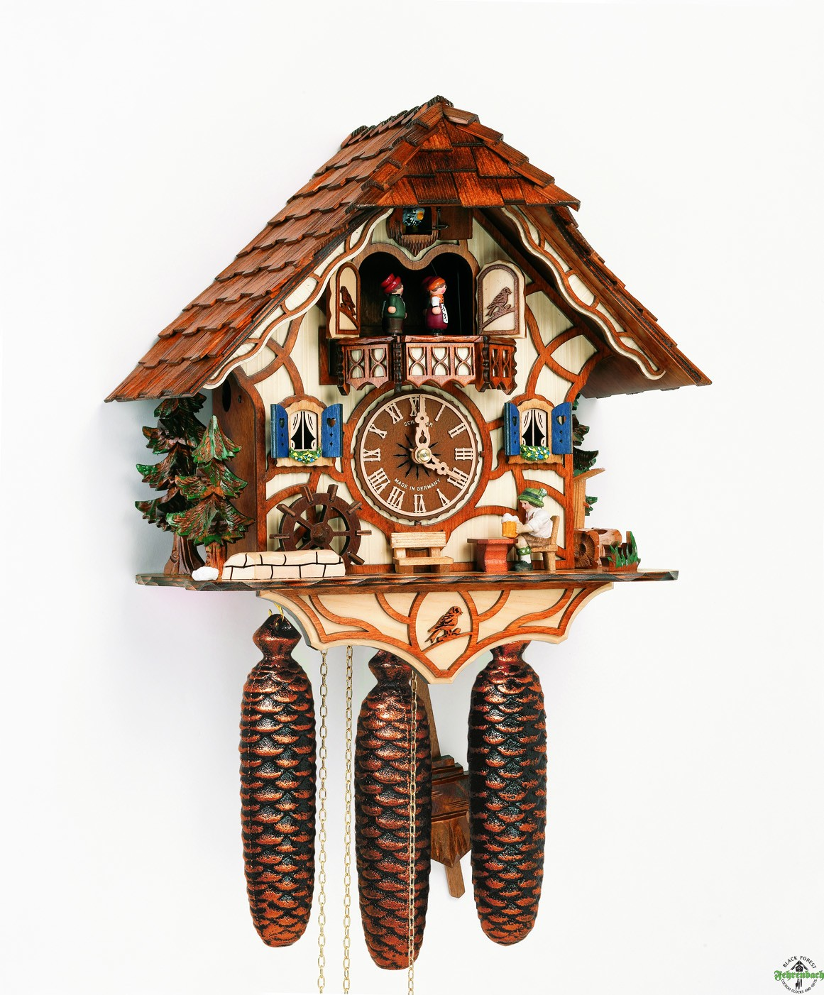 classic cuckoo clock made of wood with home design for home furniture ideas