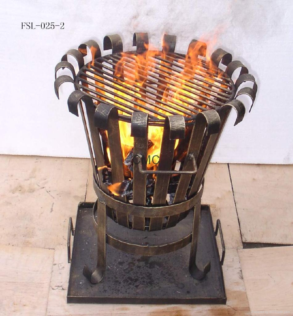 CMC Cast Iron Chiminea And Steel Fire Basket FSL025 FSL028 for patio furniture ideas