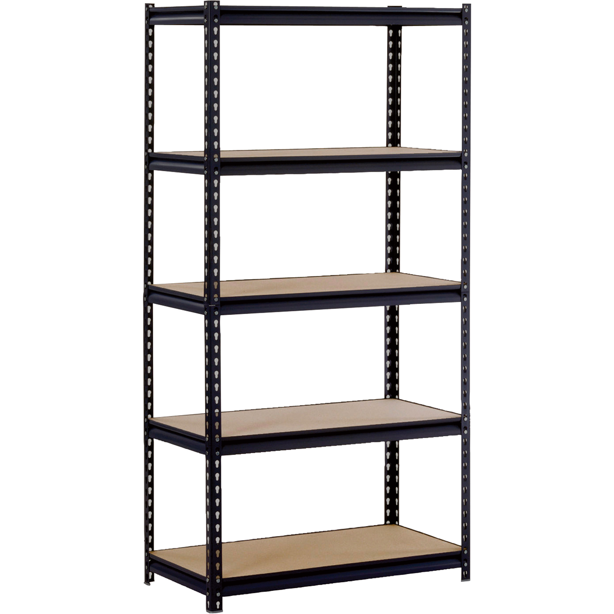 Cool Black Four Tier Edsal Shelving Made Of Iron For Garage Furniture Ideas