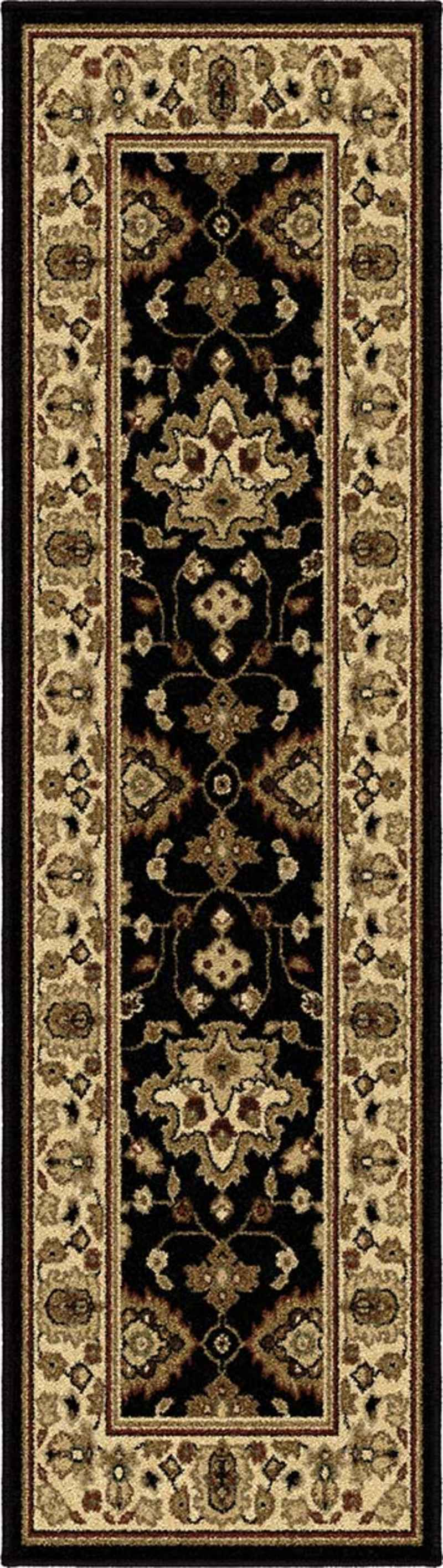 Cool Orian Rugs In Black Floral Pattern And Rectangle Shape For Floor Decor Ideas