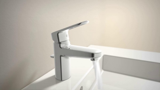 Cozy Grohe Faucets In Silver With Single Handle For Bathroom Furniture Ideas