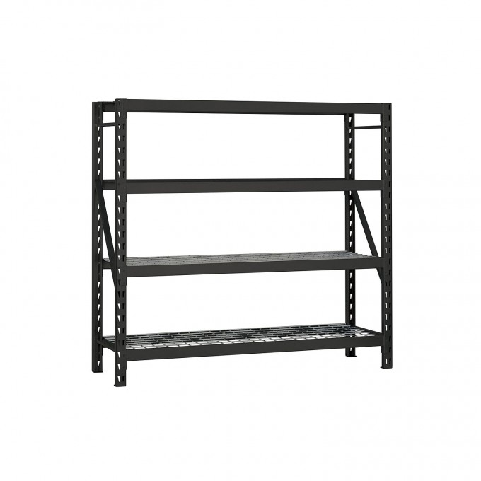 Cozy Heavy Duty 4 Shelf Steel Shelving In Black By Edsal Shelving For Garage Furniture Ideas