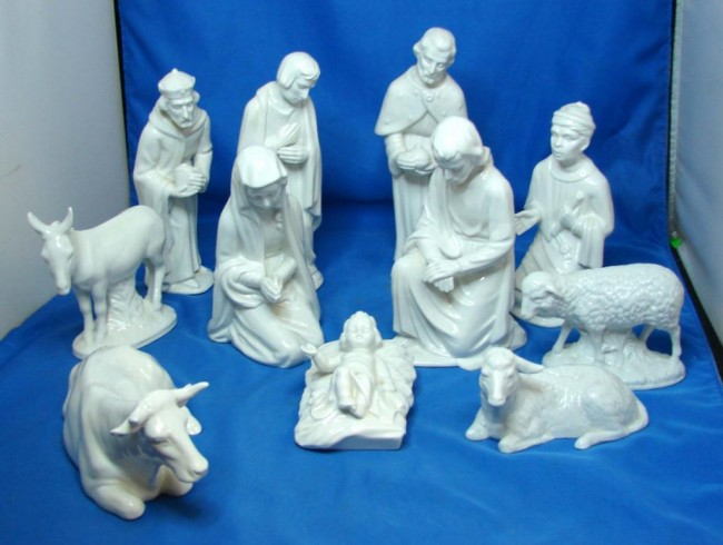 cozy holy family nativity sets made of porcelain for christmas decoration ideas