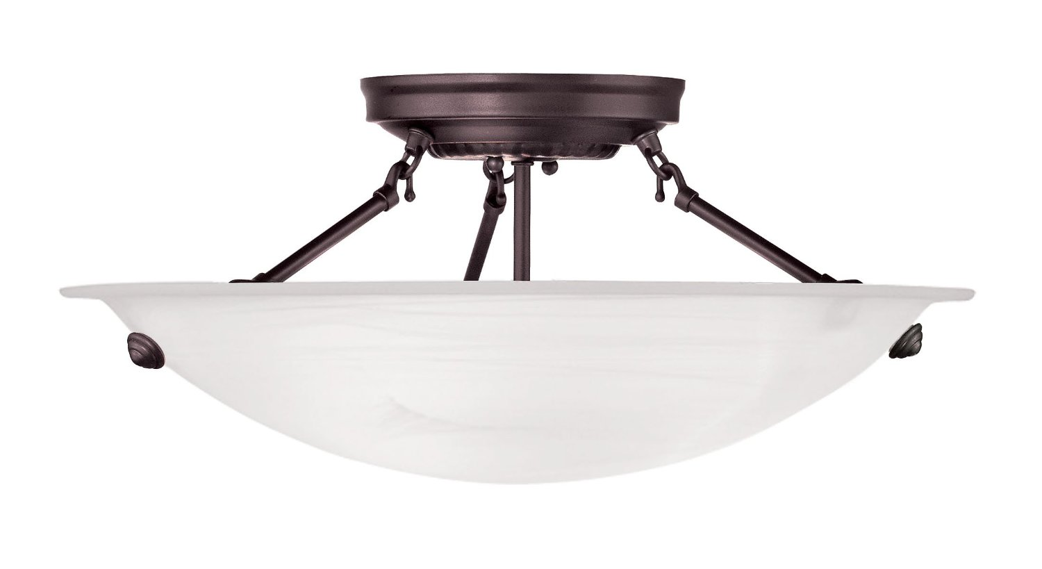 Cozy Livex Lighting 4273 91 North Port 3 Light Brushed Nickel Semi Flush For Home Lighting Ideas