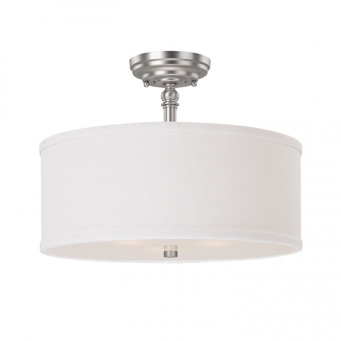 Cozy Livex Lighting 6368 91 Park Ridge 3 Light Brushed Nickel Semi Flush For Home Lighting Ideas