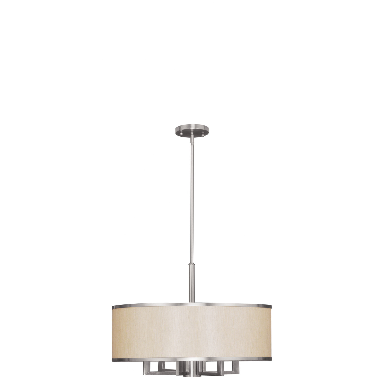 Cozy Livex Lighting Park Ridge Six Light Pendant In Brushed Nickel For Home Lighting Ideas
