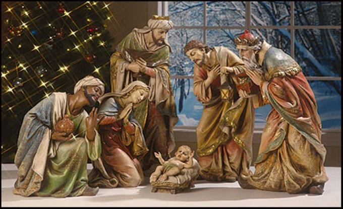 Cozy Nativity Sets With 6 Peoples For Christmas Decoration Ideas