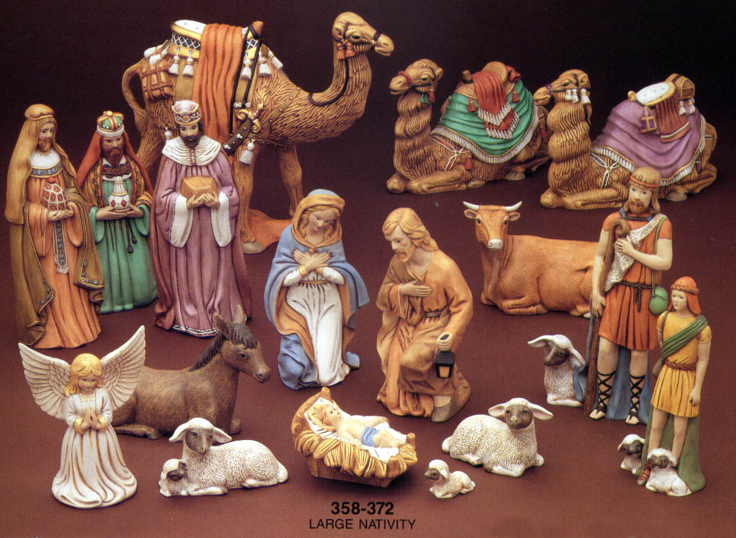 cozy nativity sets with three camels for christmas accessories ideas