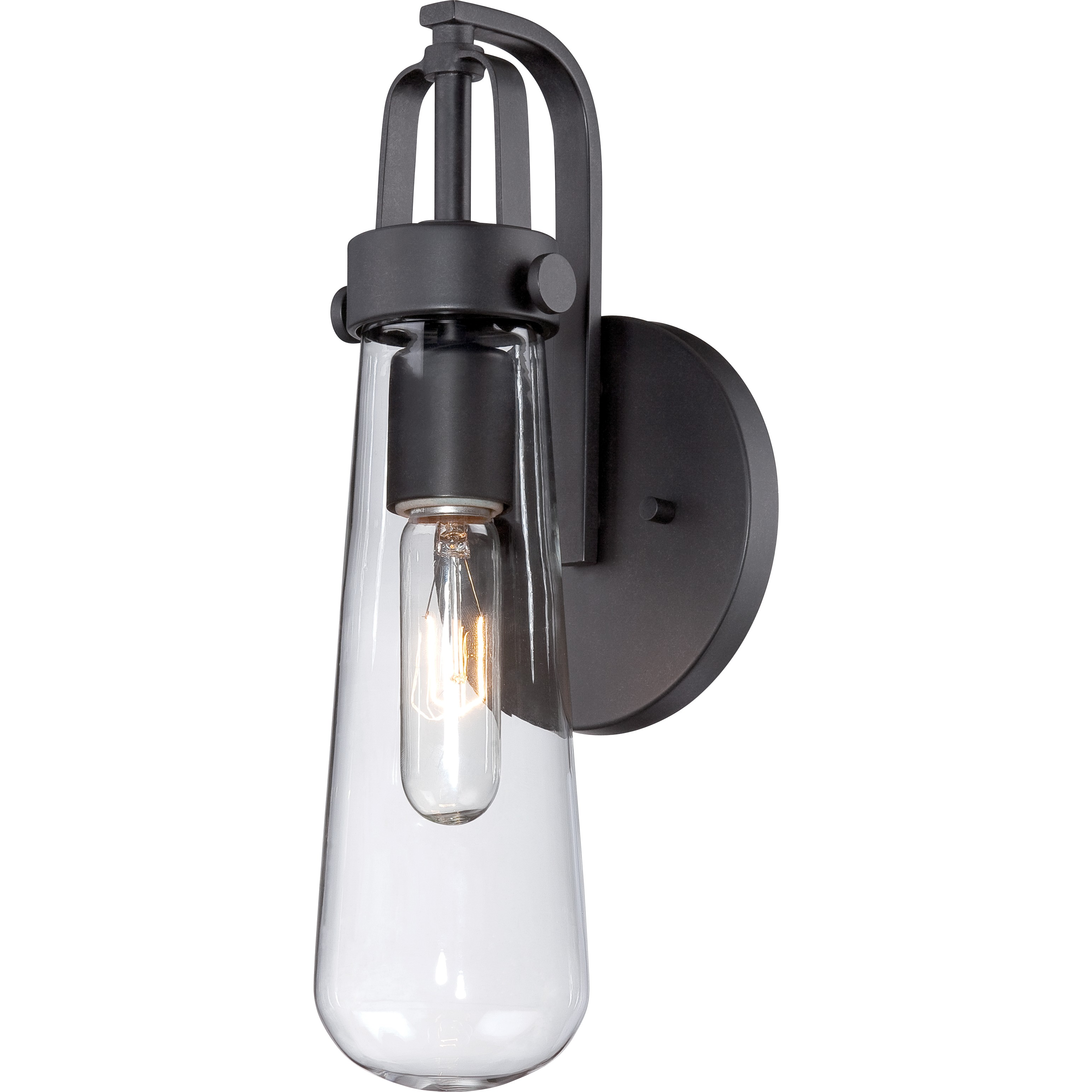 cozy nuvo lighting 1 Light Wall Sconce and a Vintage Light Bulb for home lighting ideas