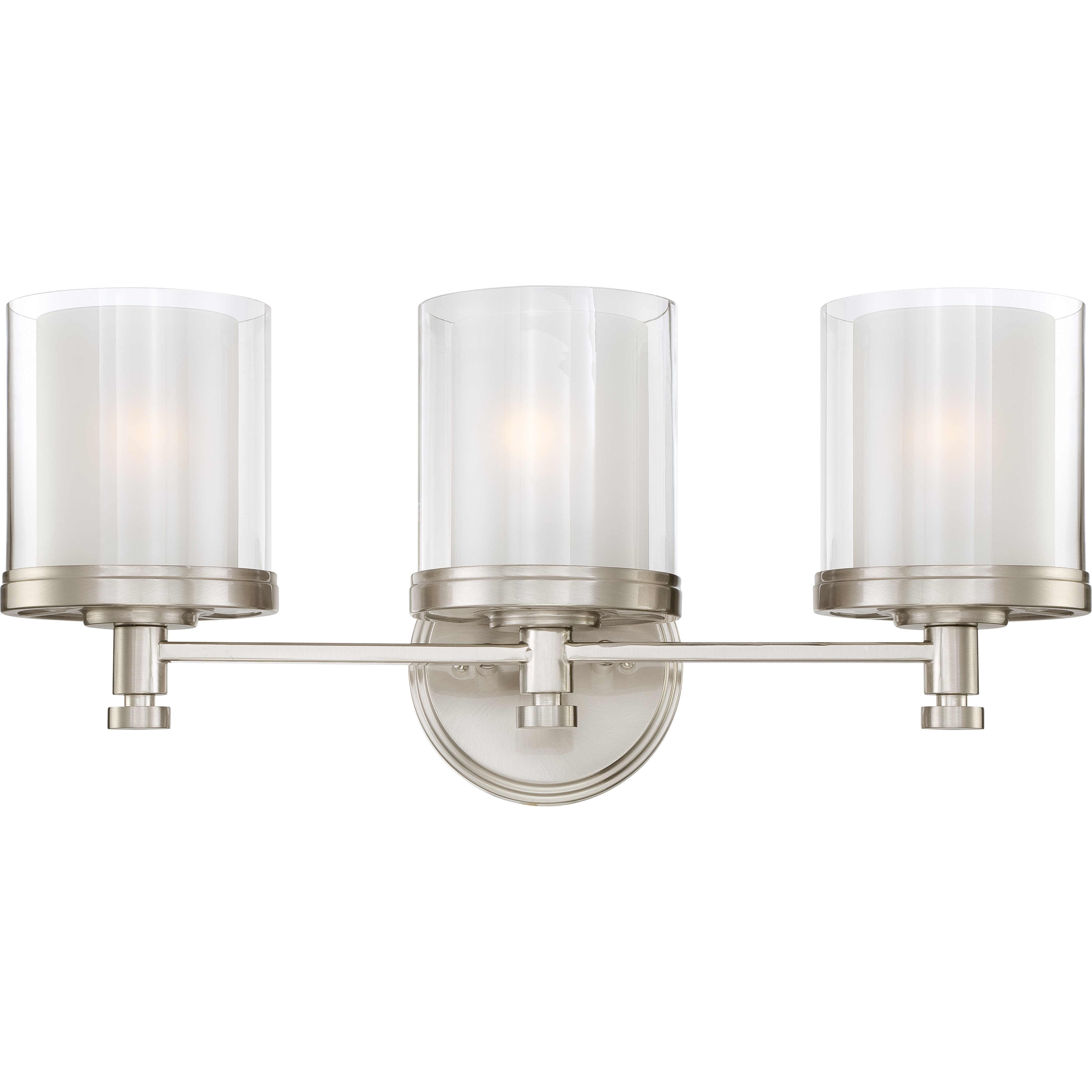 cozy nuvo lighting 3 Light Vanity Light Fixture in Brushed Nickel for bathroom lighting ideas