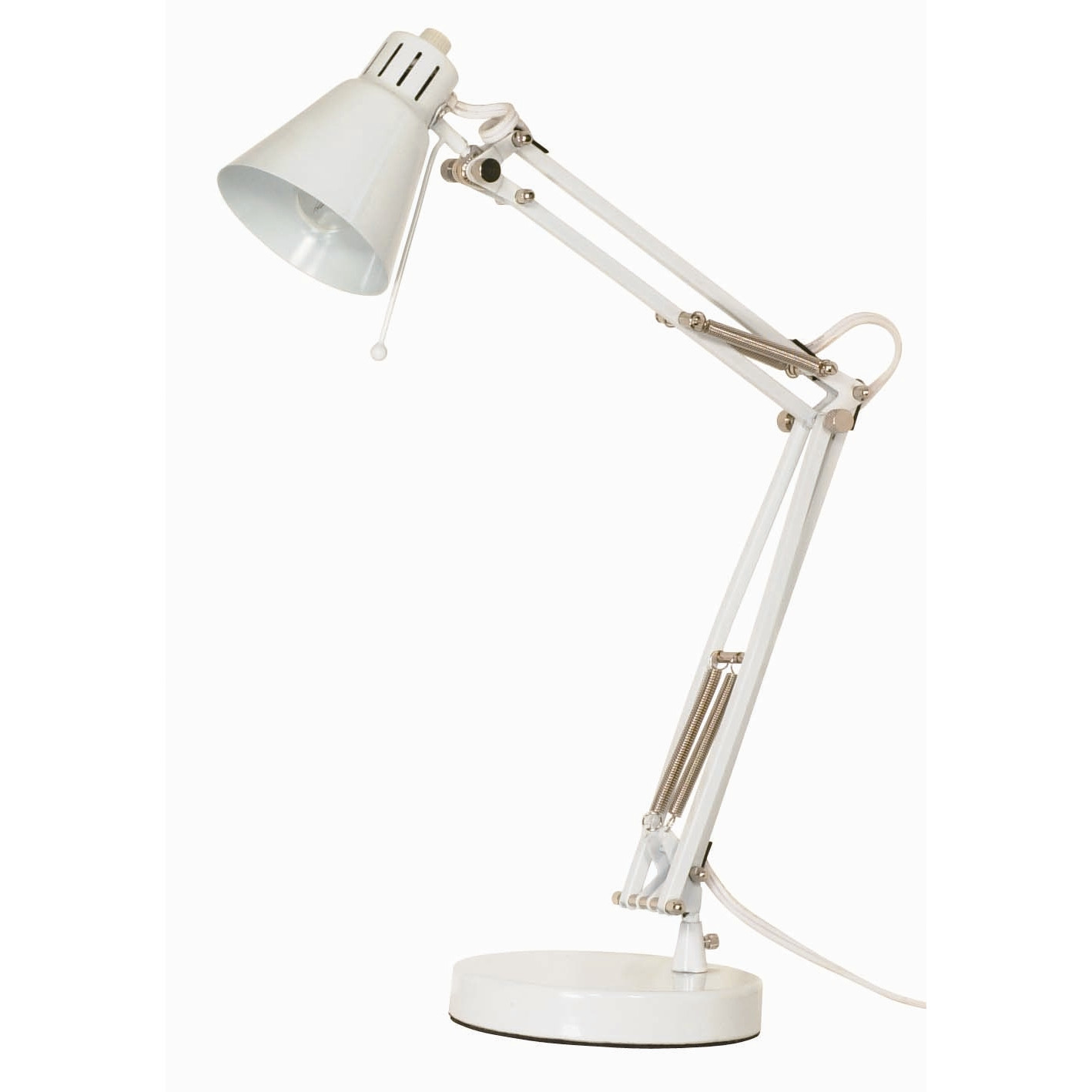 Cozy Nuvo Lighting In Stylish Design For Home Lighting Ideas: Cozy Nuvo Lighting Mini Head Drafting Desk Table Lamp With Empire Shade For Study Lighting Ideas