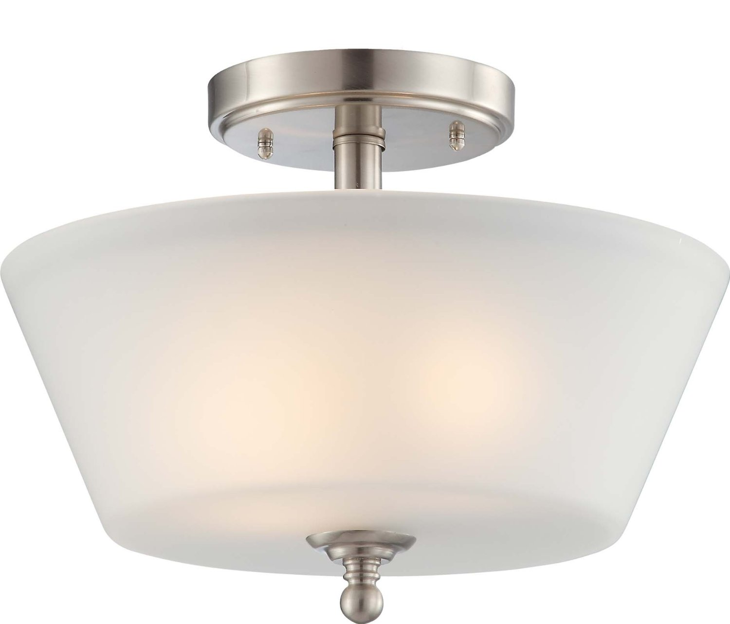 cozy nuvo lighting Two Light Surrey Semi Flush Dome for home lighting ideas