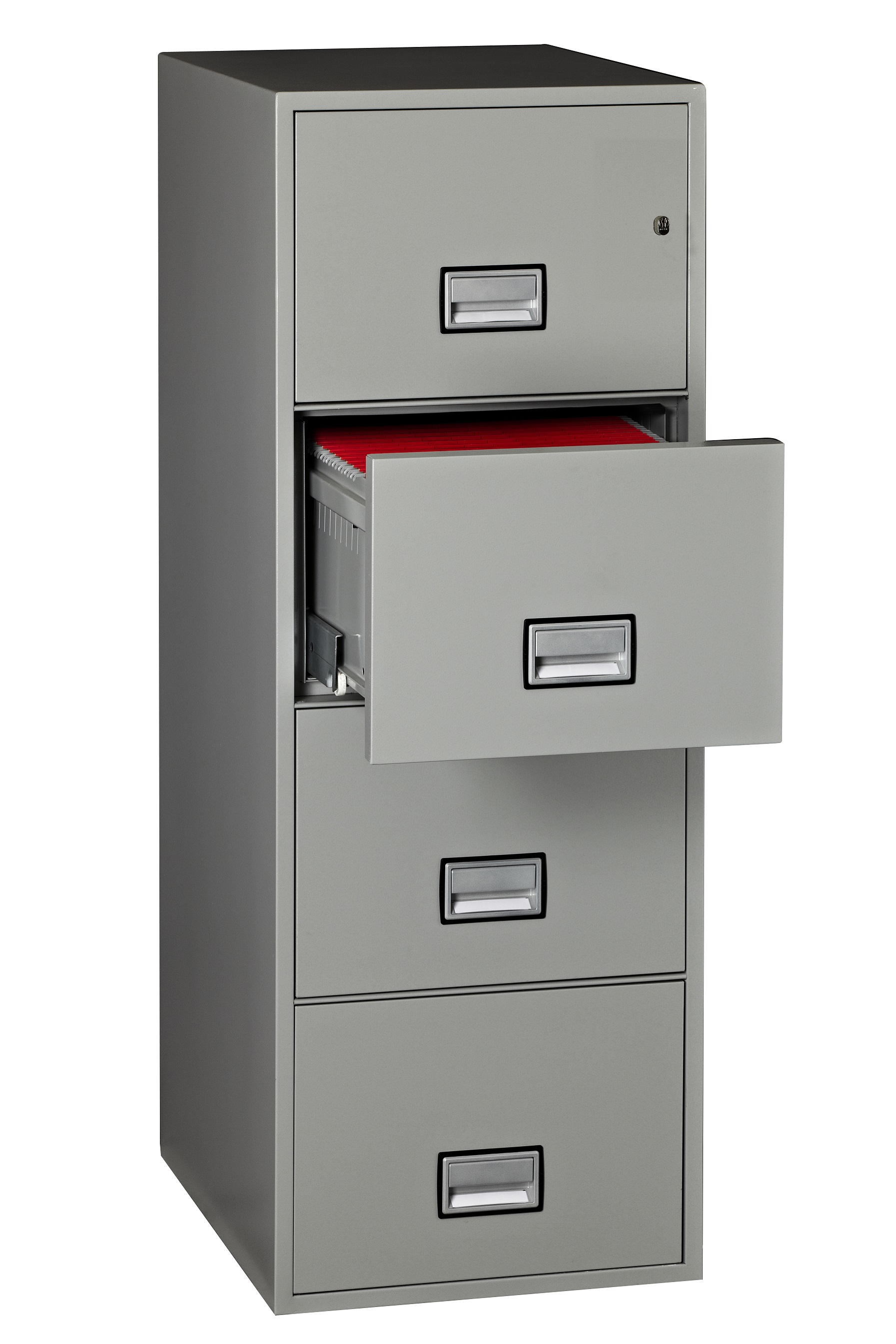 cozy vertical fireproof file cabinet in gray with four drawers for home office furniture ideas