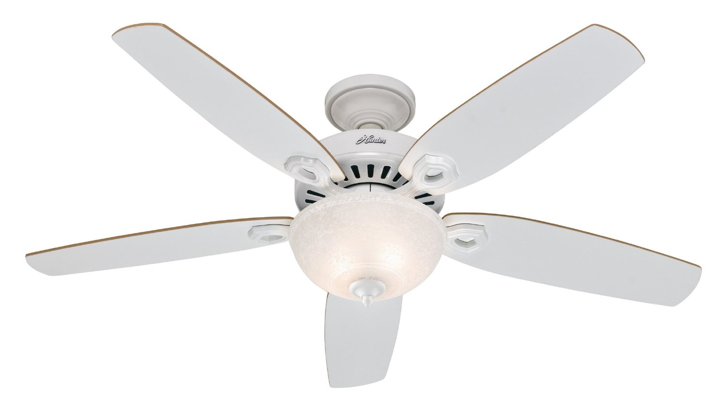 cute Casablanca Ceiling Fans in white and five blade slinger with single light for ceiling decor ideas