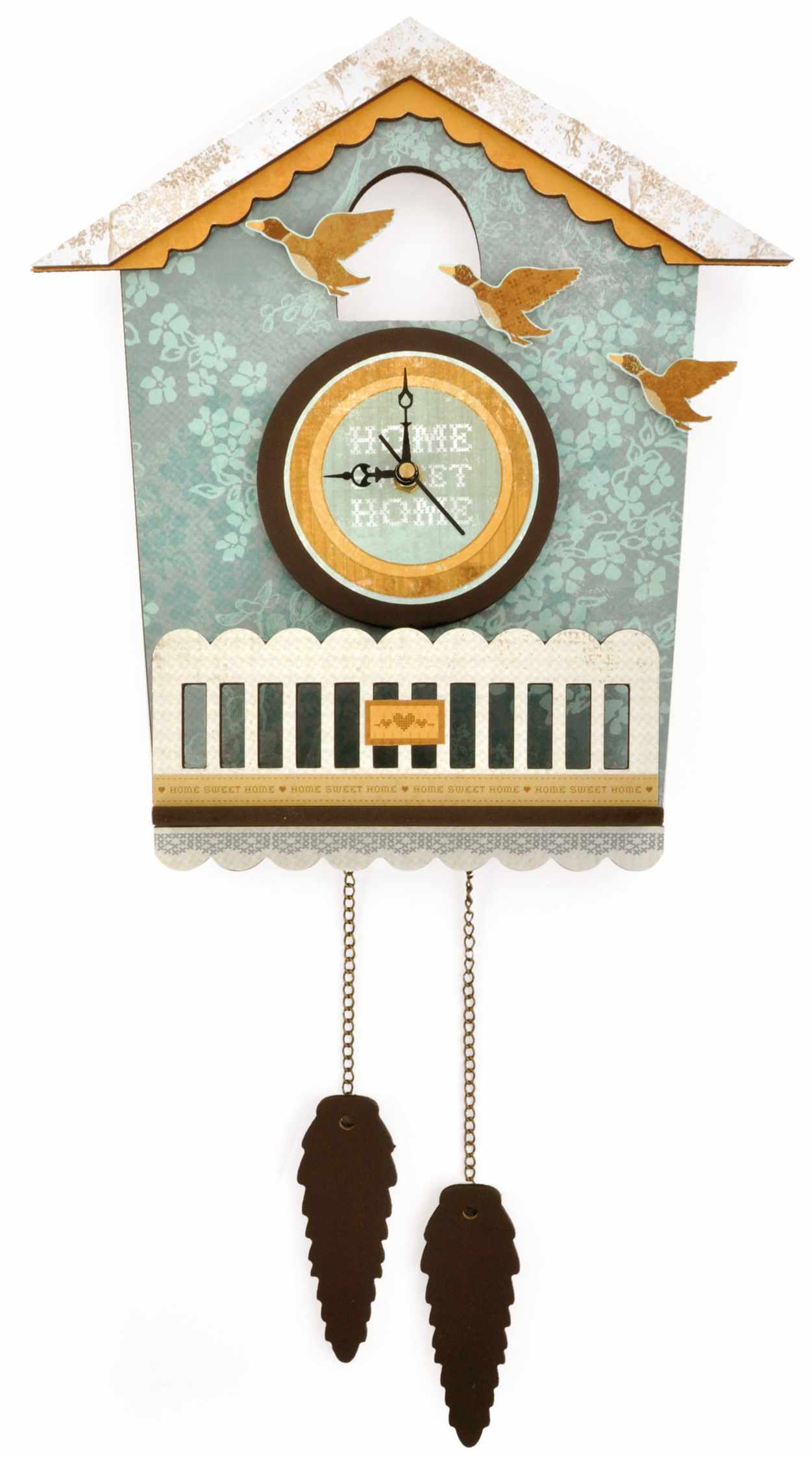 cute cuckoo clock with flying bird ornament for home accessories ideas