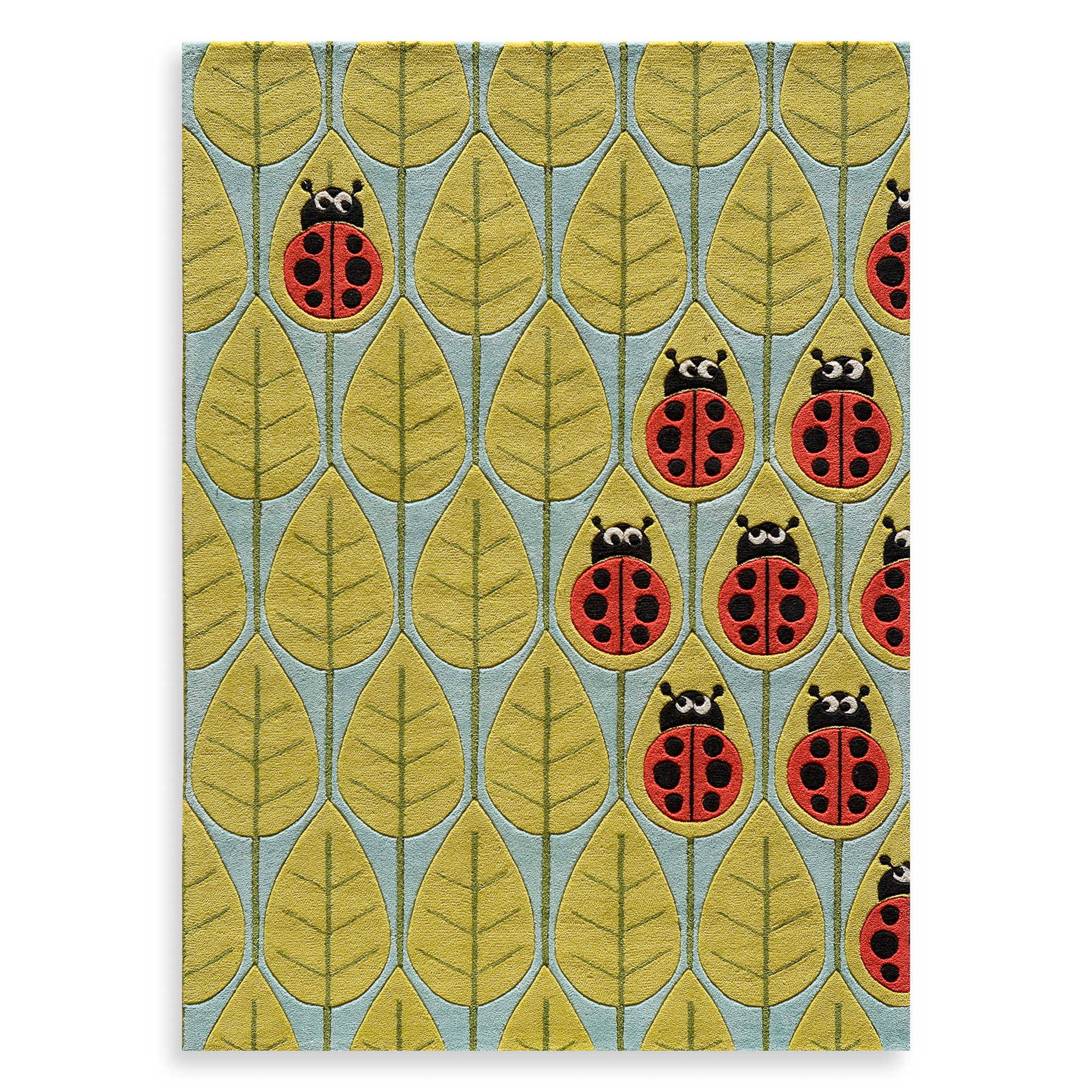 Cute Lil Mo Whimsy 2 Foot X 3 Foot Lady Bug Area Rug By Momeni Rugs For Floor Decor Ideas