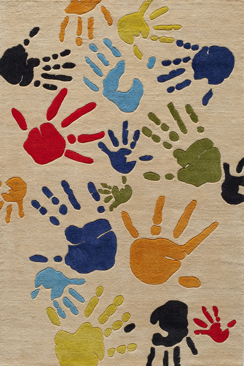 Cute Lil Mo Whimsy Kids Hand Print Ivory Rug By Momeni Rugs For Floor Decor Ideas