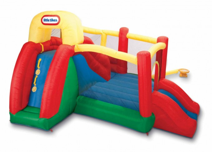 Cute Little Tikes Bounce House Made Of Caoutchouc With Double Slides For Play Yard Ideas