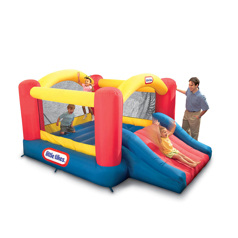 Cute Little Tikes Bounce House Made Of Caoutchouc With Slide For Kids Play Room Ideas