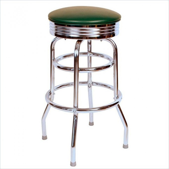 Cute Retro 1950s 30inch Backless Swivel Bar Stool In Green By Cymax Bar Stools For Home Furniture Ideas