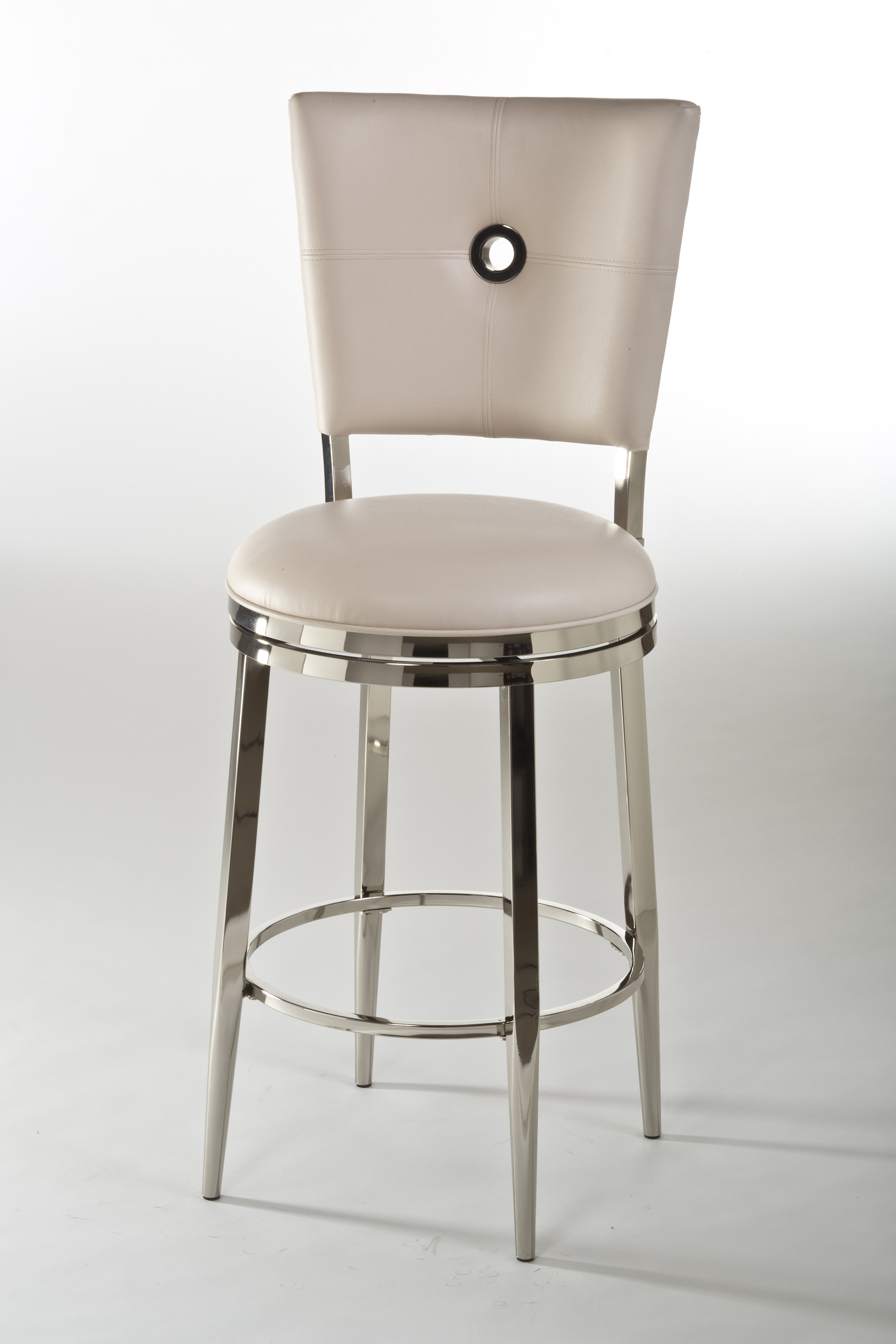 elegant cymax bar stools with antique white seat and back plus stainless steel legs for inspiring furniture ideas