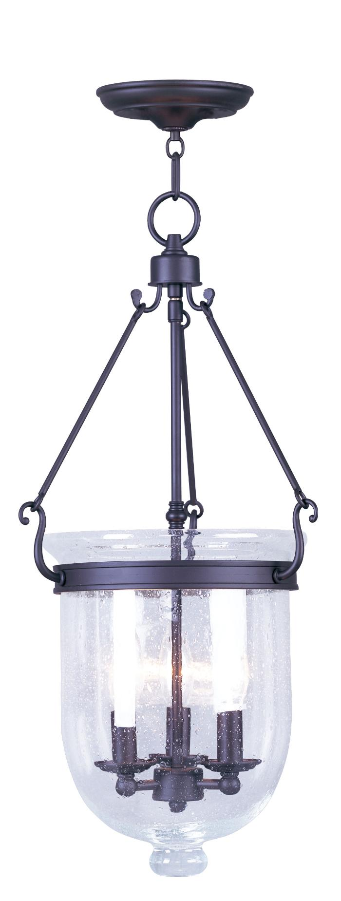 Elegant Livex Lighting 5084 07 Pendants From The Jefferson Collection For Home Lighting Ideas