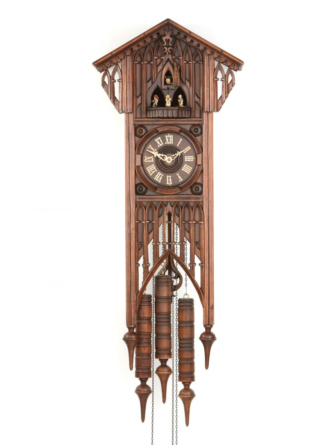 Exclusive Cuckoo Clock In Brown With Awesome Design For Home Accessories Ideas