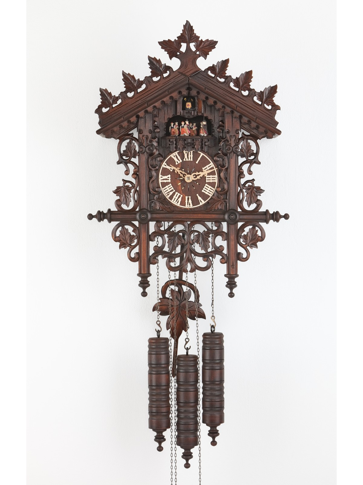 Exclusive cuckoo clock in brown with wonderful carving for home accessories ideas