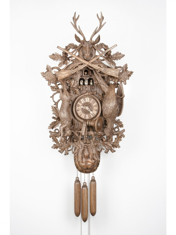 Exclusive Cuckoo Clock In Chrome Color Made Of Wood For Home Furniture Ideas