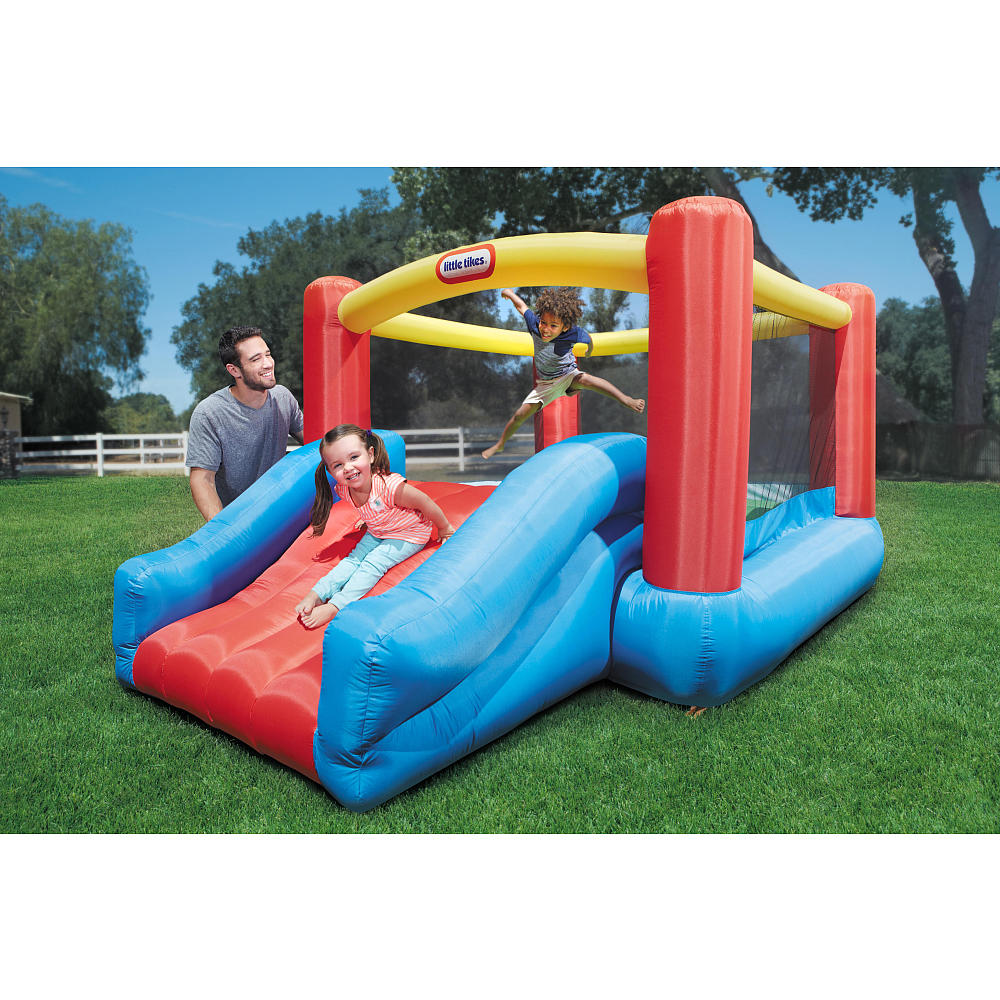 Fancy And Colorful Little Tikes Bounce House Made Of Caoutchouc With Slide For Play Yard Ideas
