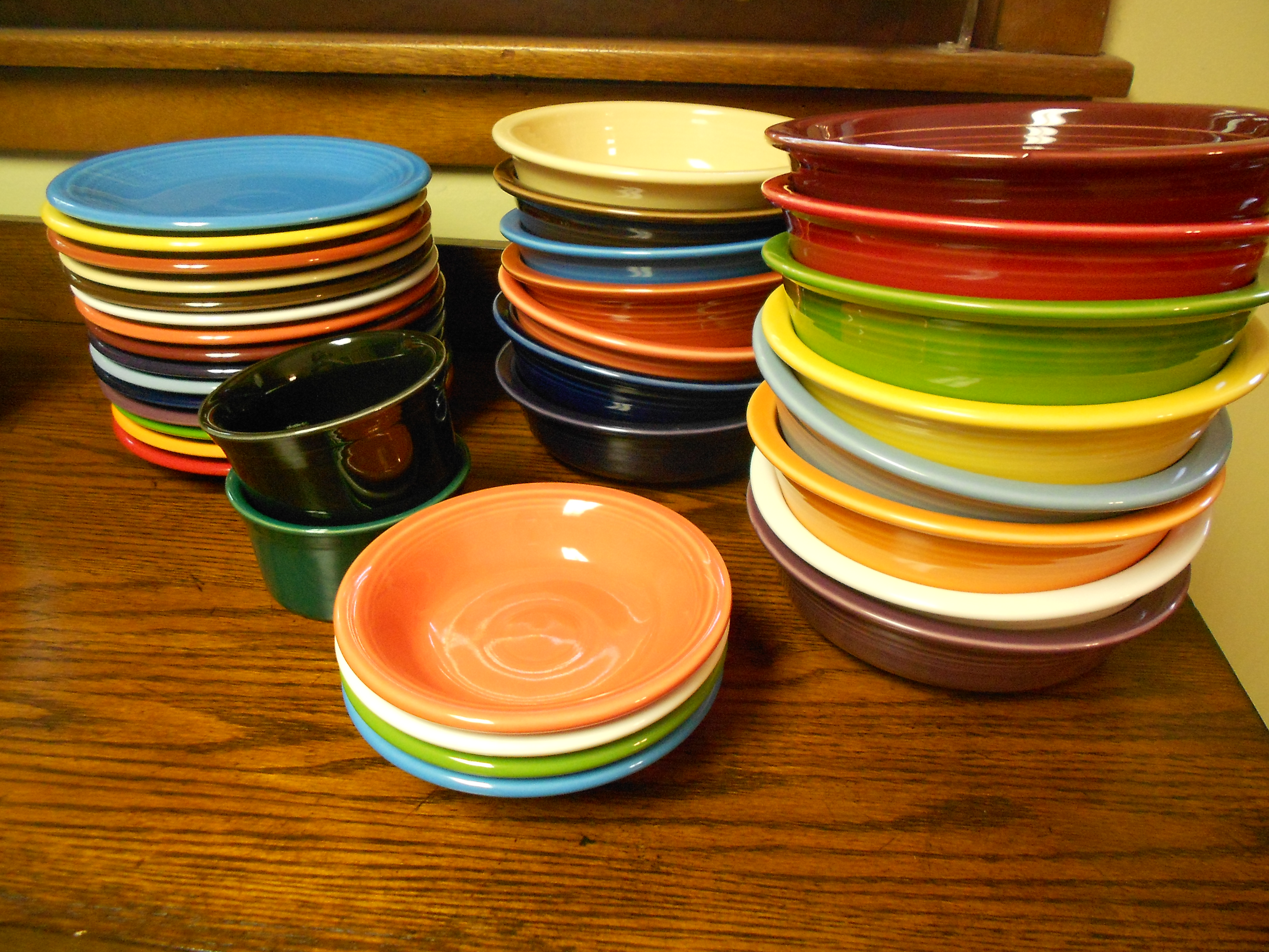 fancy collections of fiestaware for diningware ideas