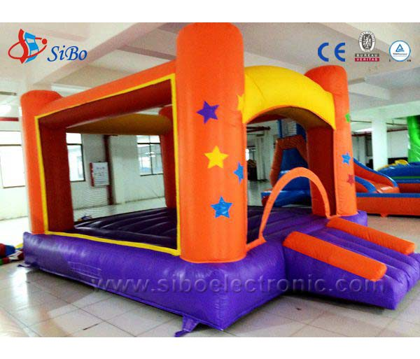 Fancy Little Tikes Bounce House Made Of Caoutchouc In Orange Purple Yellow For Kids Play Room Ideas