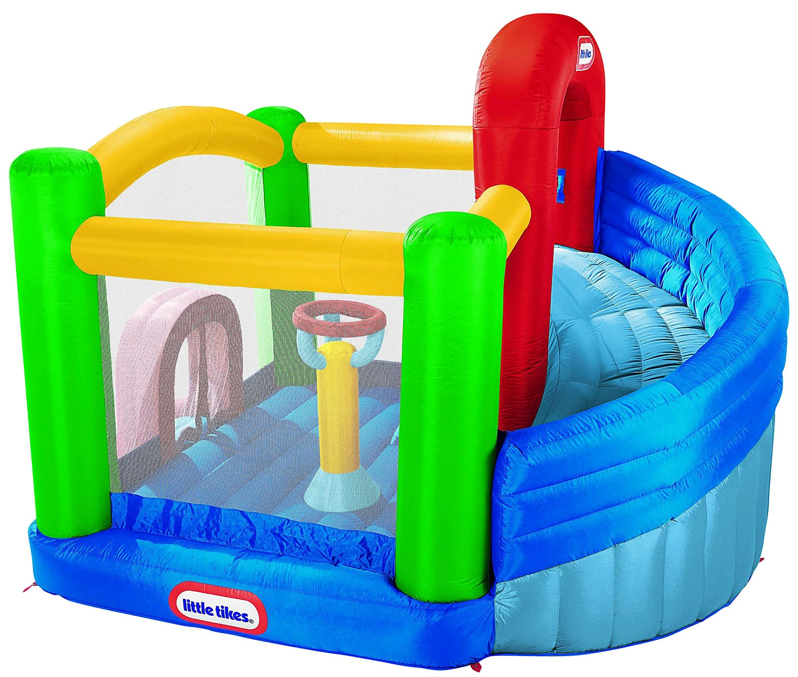 Fancy Little Tikes Bounce House For Play Yard Ideas: Fancy Little Tikes Bounce House Made Of Caoutchouc With Balcony Design For Play Yard Ideas