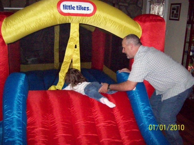 Fancy Little Tikes Bounce House Made Of Caoutchouc With Slide For Kids Play Room Ideas