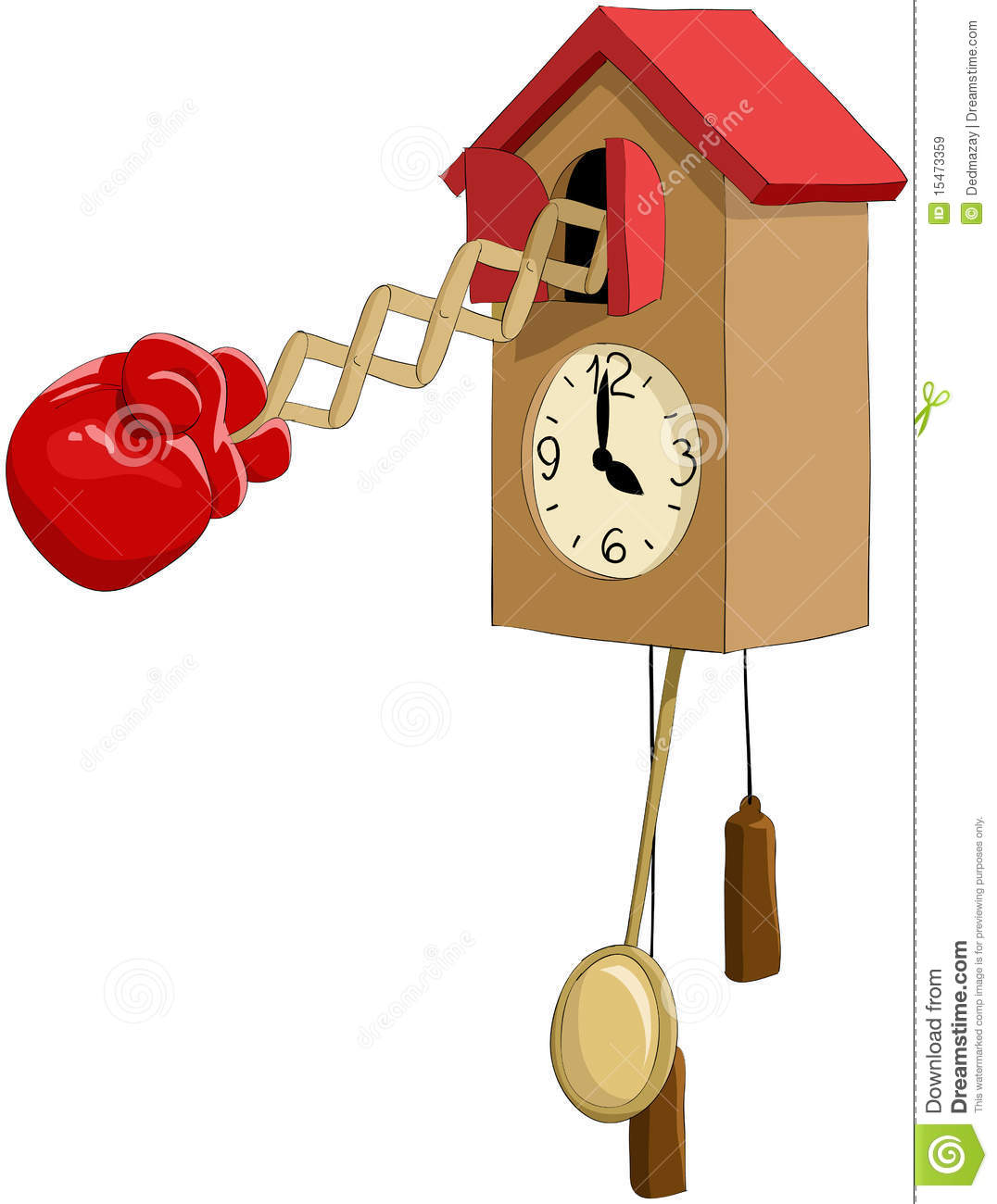 funny cuckoo clock in brown home with red roof design for home accessories ideas