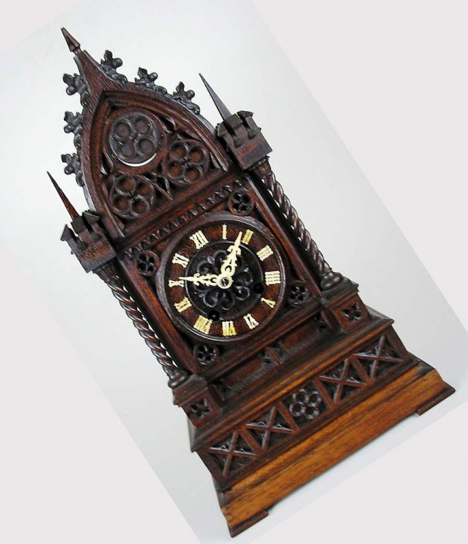 German Cuckoo Clock In Brown Made Of Wood For Home Accessories Ideas