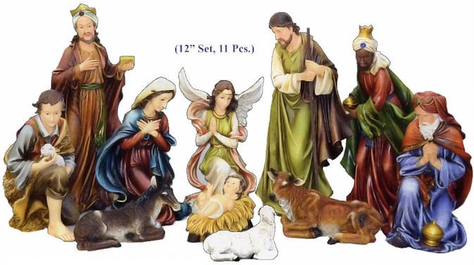 Glamorous Outdoor Christmas nativity sets for christmas decoration ideas