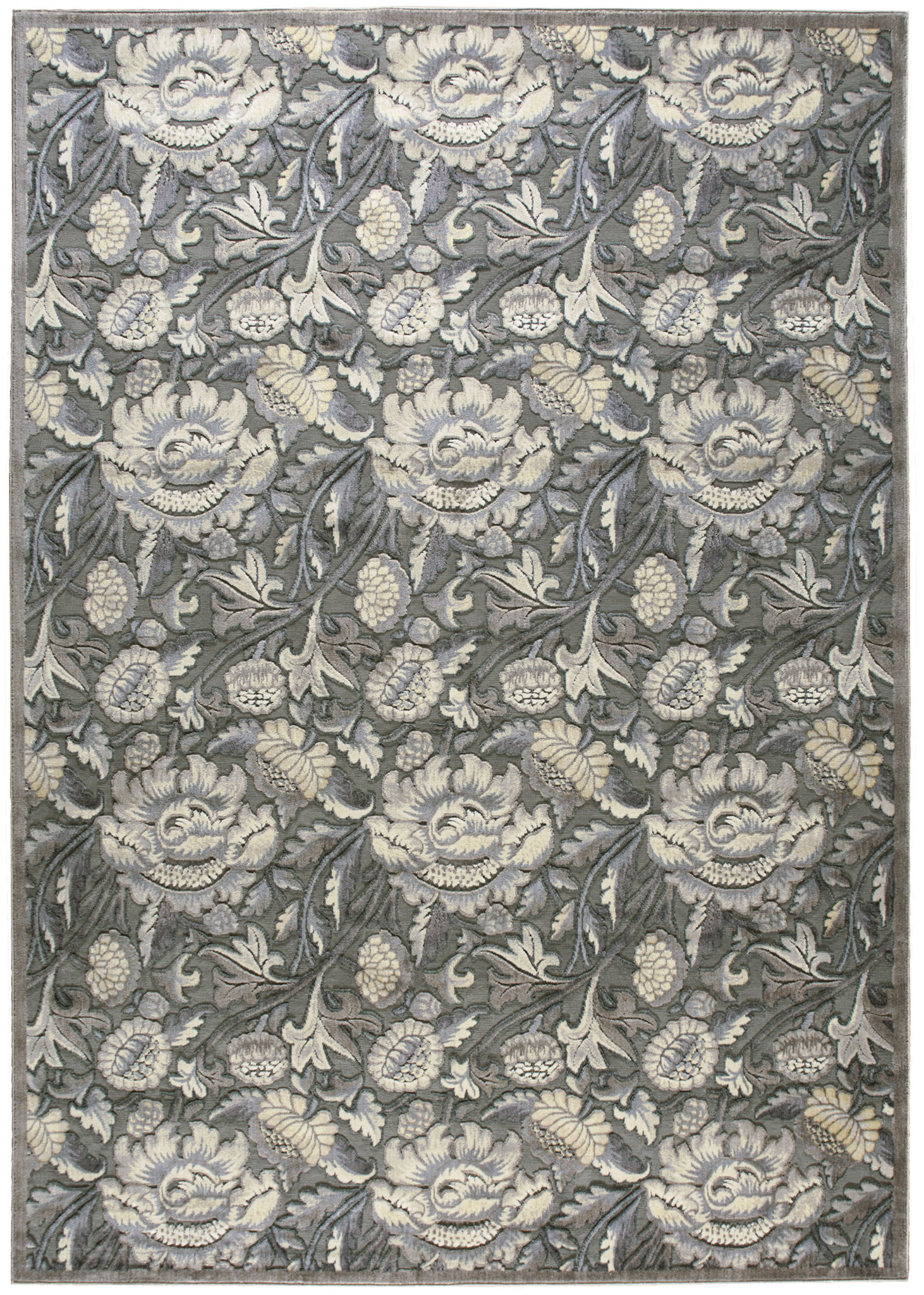 Graphic Illusions Collection Area Rug in Grey by nourison rugs for floor decor ideas