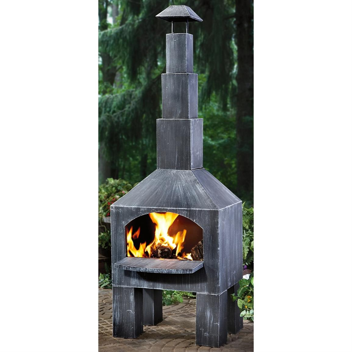 Guide Gear Outdoor Cooking Chiminea 200362 for patio furniture ideas