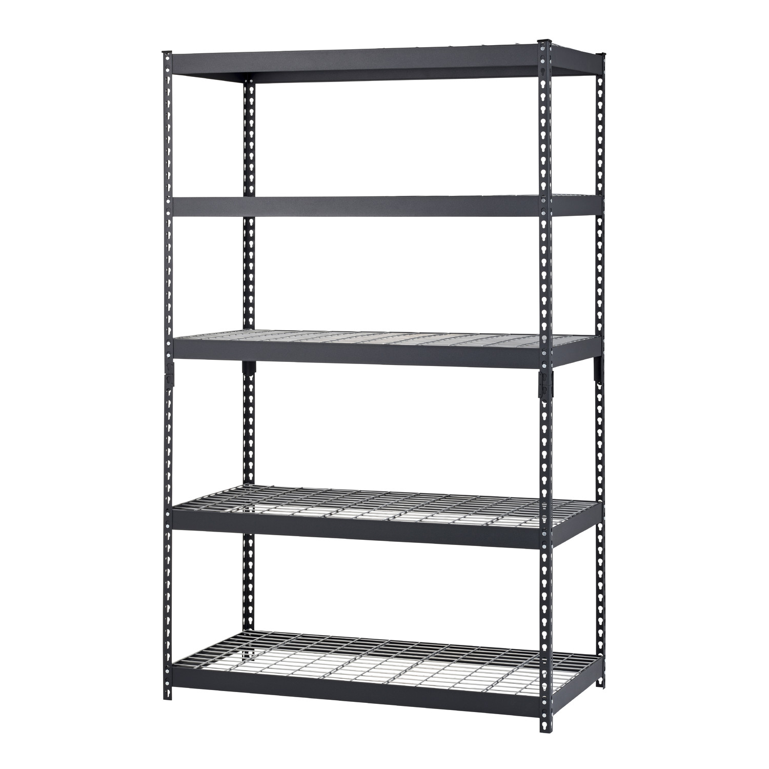 H Steel Five Shelf Heavy Duty Shelving Unit by edsal shelving for garage furniture ideas