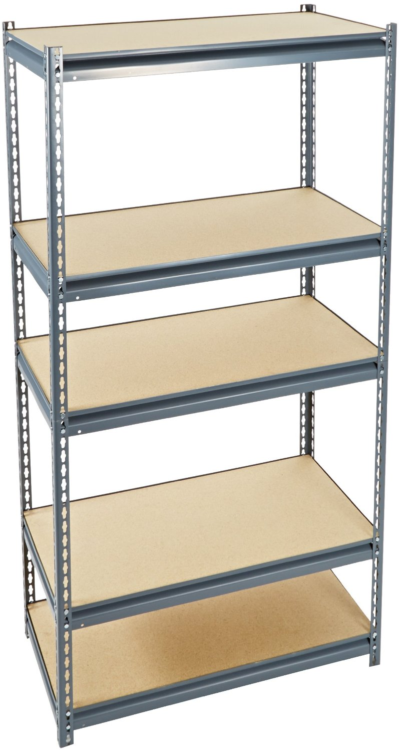 Industrial Gray Heavy Duty Steel Boltless edsal shelving for garage furniture ideas