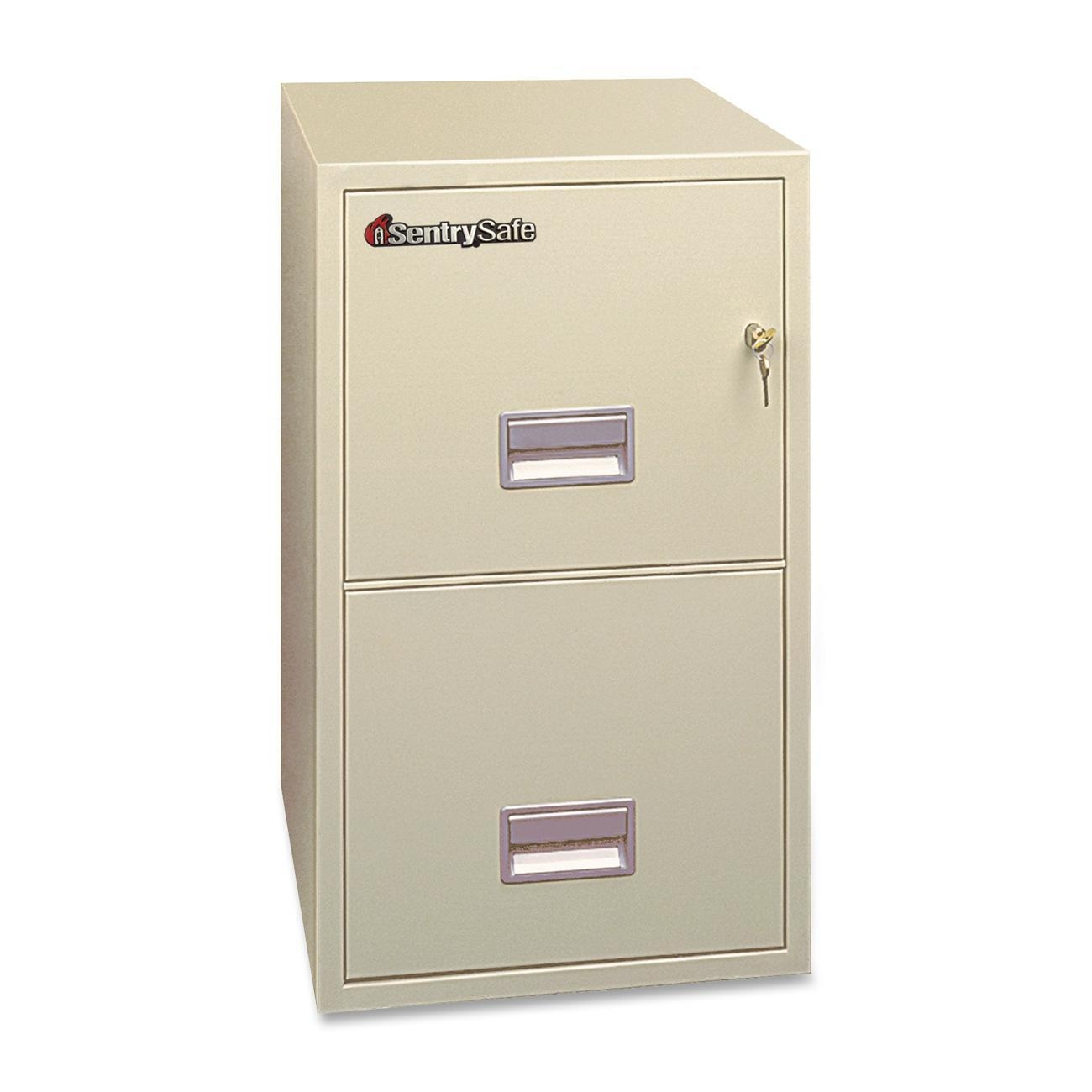 Interesting Fireproof File Cabinet In Antique White With Silver Handle And Standard Lock For Home Office Furniture Ideas