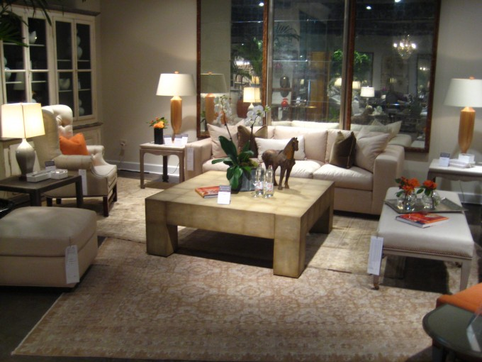 Interesting Living Room Decor With White Sofa Set On Momeni Rugs Plus Square Wooden Table Ideas
