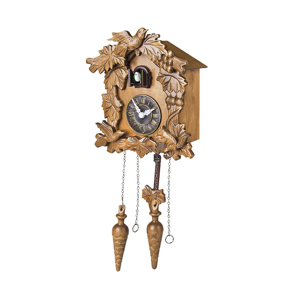 lovely cuckoo clock in chocolate with bird ornament for home accessories ideas