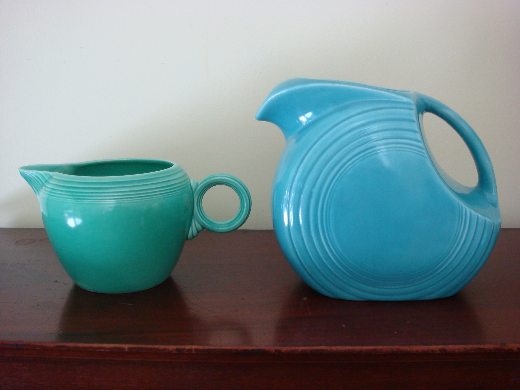 Awesome Collections Of Fiestaware For Dinnerware Ideas: Lovely Green Mug And Blue Teapot By Fiestaware For Drinkware Ideas