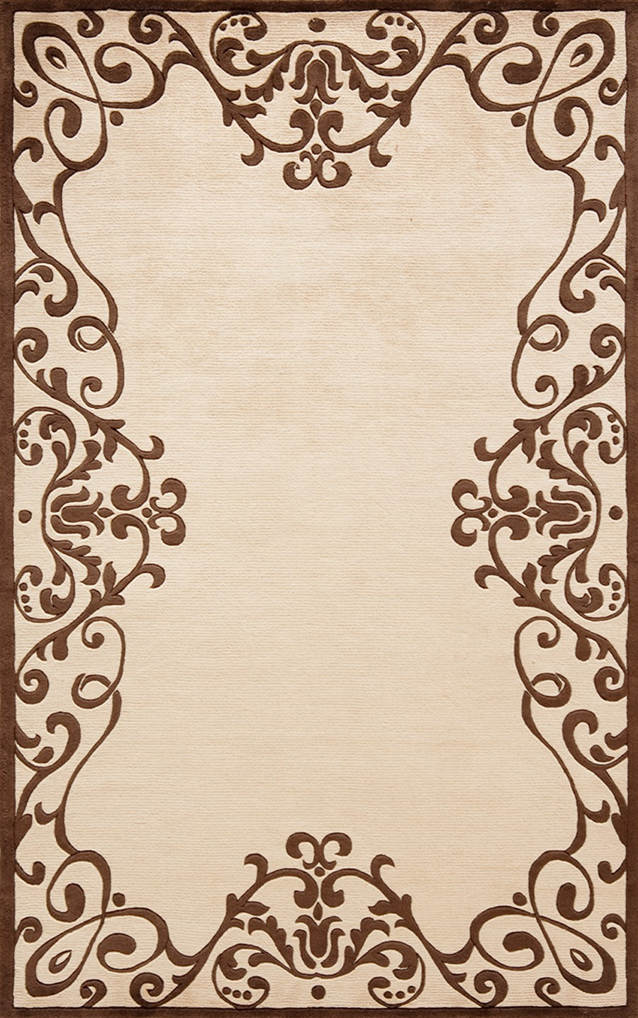 lovely Harmony Brown HA 26 Rug with floral pattern for floor decor ideas